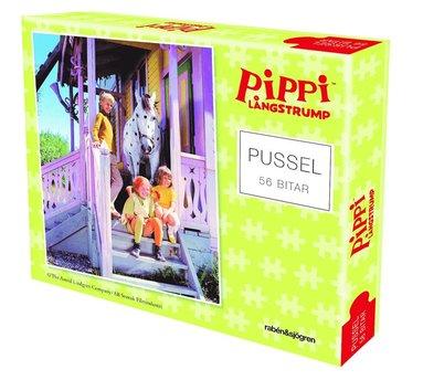Pussel 56 bitar Pippi, Tommy och Annika
