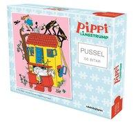 Pussel 56 bitar Pippi Långstrump på Villa Villekulla