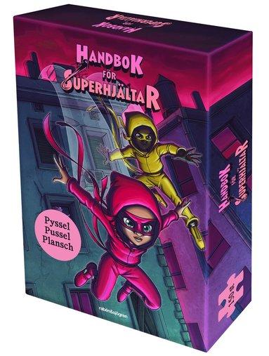 Handbok för superhjältar box : pysselbok, plansch och pussel 150 bitar 1