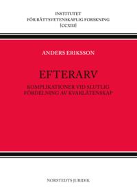 bokomslag Efterarv : komplikationer vid slutlig fördelning av kvarlåtenskap