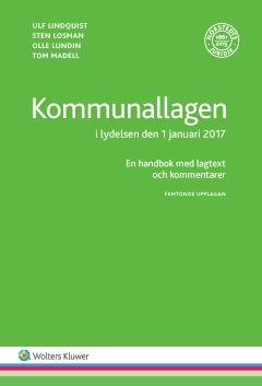 bokomslag Kommunallagen i lydelsen den 1 januari 2017 : en handbok med lagtext och kommentarer