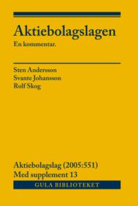 bokomslag Aktiebolagslagen, del I-III : inkl suppl 13