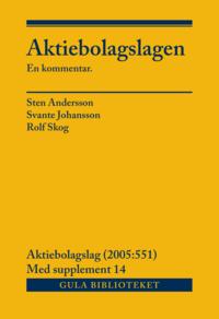 bokomslag Aktiebolagslagen, del I-III : inkl suppl 14
