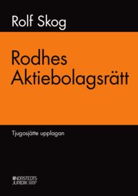 bokomslag Rodhes aktiebolagsrätt