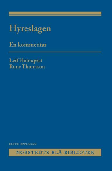 bokomslag Hyreslagen : en kommentar