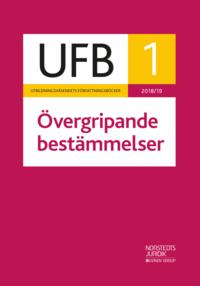 bokomslag UFB 1 Övergripande bestämmelser 2018/19