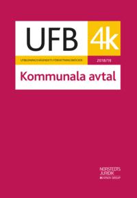 bokomslag UFB 4 K Kommunala avtal 2018/19