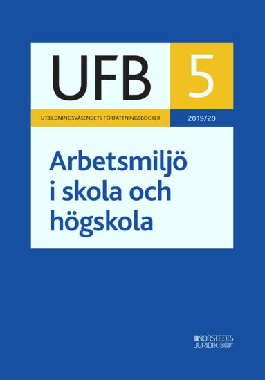 bokomslag UFB 5 Arbetsmiljö i skola och högskola 2019/20