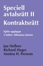 bokomslag Speciell avtalsrätt II : kontraktsrätt. H.2, Allmänna ämnen