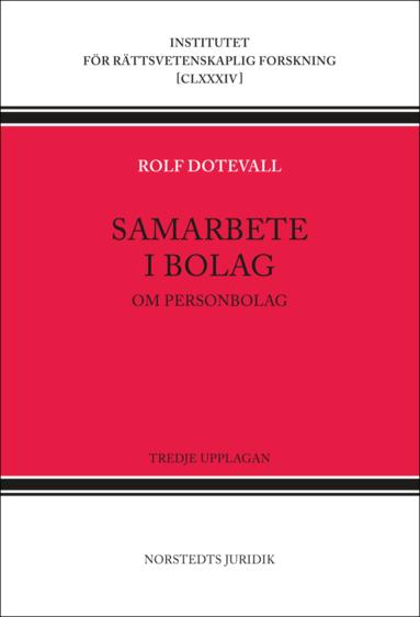 bokomslag Samarbete i bolag : om personbolag