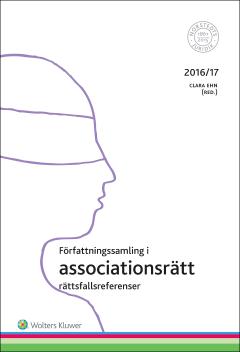 bokomslag Författningssamling i associationsrätt : 2016/17