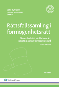 bokomslag Rättsfallssamling i förmögenhetsrätt, Vol 1 : skadeståndsrätt, skuldebrevsrätt, sakrätt & allmän förmögenhetsrätt