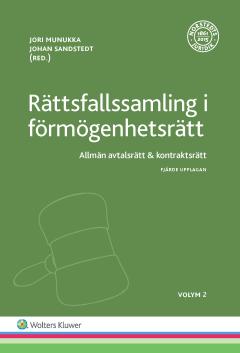 bokomslag Rättsfallssamling i förmögenhetsrätt, Vol 2 : allmän avtalsrätt & kontraktsrätt