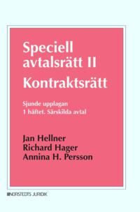 bokomslag Speciell avtalsrätt II : kontraktsrätt, Första häftet - Särskilda avtal