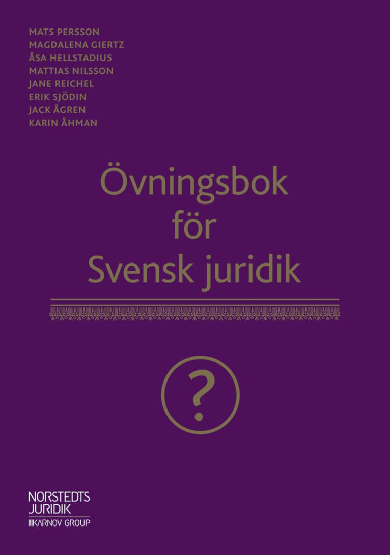 Övningsbok för Svensk juridik 1