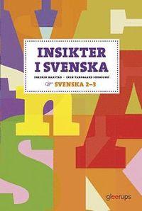 bokomslag Insikter i svenska 2-3