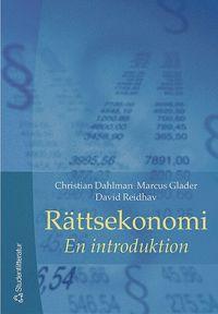 bokomslag Rättsekonomi : en introduktion