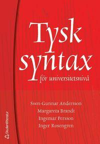 bokomslag Tysk syntax för universitetsnivå
