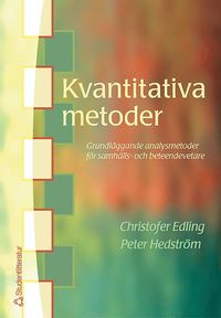 bokomslag Kvantitativa metoder - Grundläggande analysmetoder för samhälls- och beteendevetare