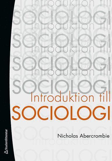 bokomslag Introduktion till sociologi