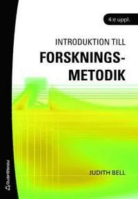 bokomslag Introduktion till forskningsmetodik