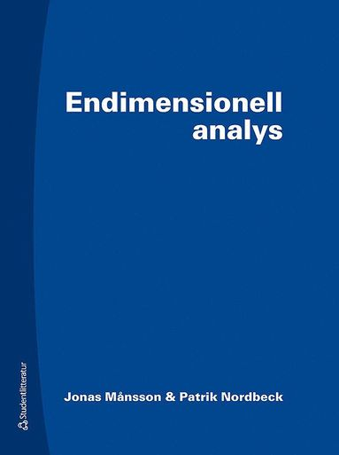 bokomslag Endimensionell analys