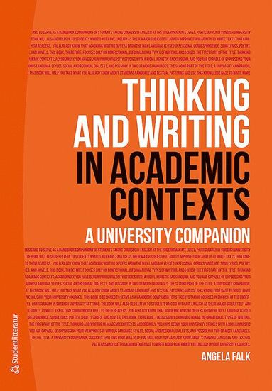 bokomslag Thinking and Writing in Academic Contexts - A University Companion