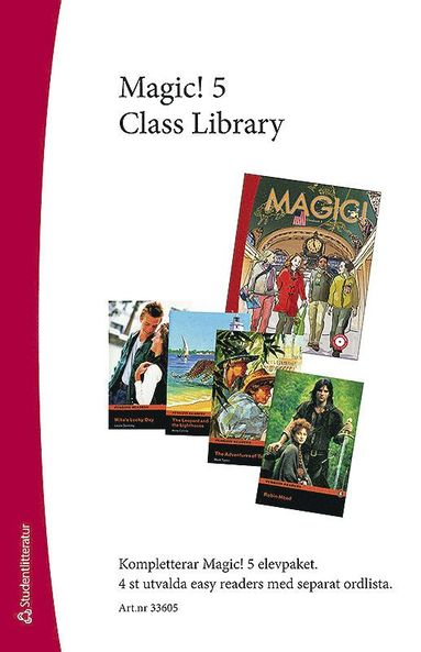 bokomslag Magic! 5 Class Library - Easy Readers (4 st) med ordlista