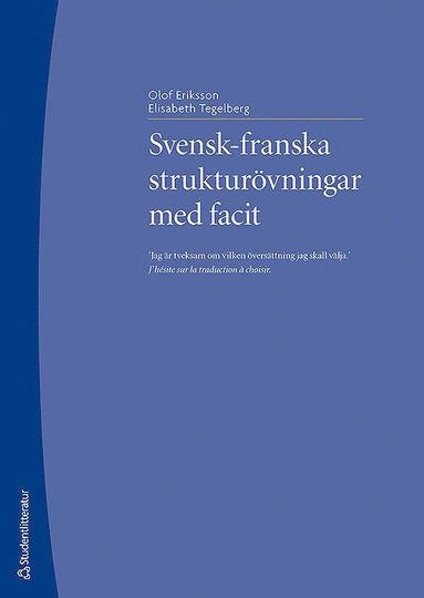 bokomslag Svensk-franska strukturövningar med facit