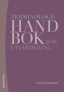 bokomslag Terminologihandbok för utvärdering