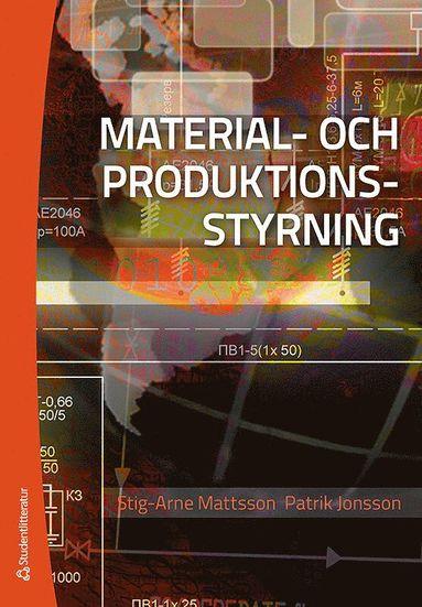 bokomslag Material- och produktionsstyning