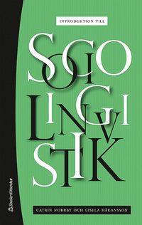 bokomslag Introduktion till sociolingvistik