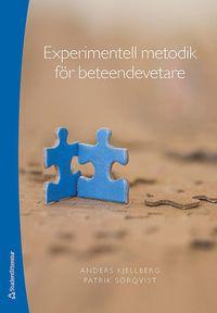 bokomslag Experimentell metodik för beteendevetare
