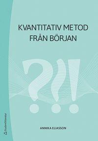 bokomslag Kvantitativ metod från början