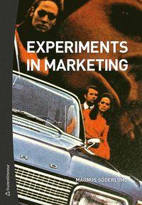 bokomslag Experiments in marketing