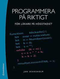bokomslag Programmera på riktigt : för lärare på högstadiet