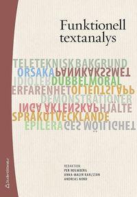 bokomslag Funktionell textanalys