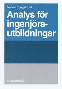 bokomslag Analys för ingenjörsutbildningar