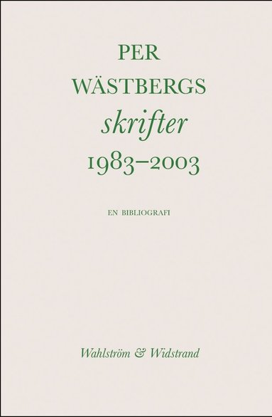 bokomslag Bibliografi 1983--2003