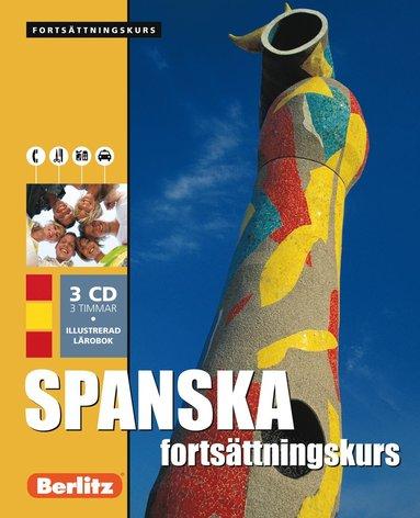 bokomslag Spanska fortsättningskurs, språkkurs - Språkkurs med 3 CD