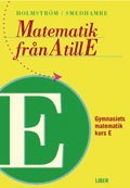 bokomslag Matematik från A till E Kurs E