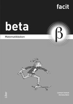 bokomslag Matematikboken Beta Facit