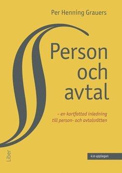 bokomslag Person och avtal : en kortfattad inledning till person- och avtalsrätten