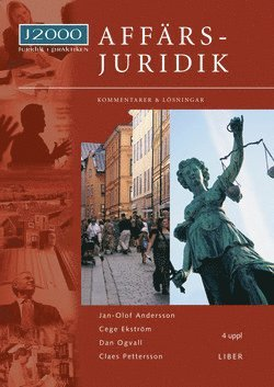 bokomslag J2000 Affärsjuridik, Kommentarer och lösningar