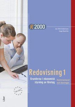 bokomslag R2000 Redovisning 1 Kommentarer och lösningar