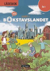 bokomslag Livet i Bokstavslandet Läsebok åk 1 nivå röd