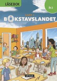bokomslag Livet i Bokstavslandet Läsebok åk 2 nivå grön