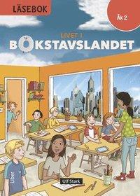 bokomslag Livet i Bokstavslandet Läsebok åk 2 nivå röd