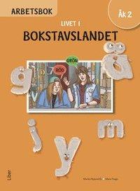 bokomslag Livet i Bokstavslandet Arbetsbok åk 2