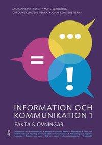 bokomslag Information och kommunikation 1 Fakta och övningar